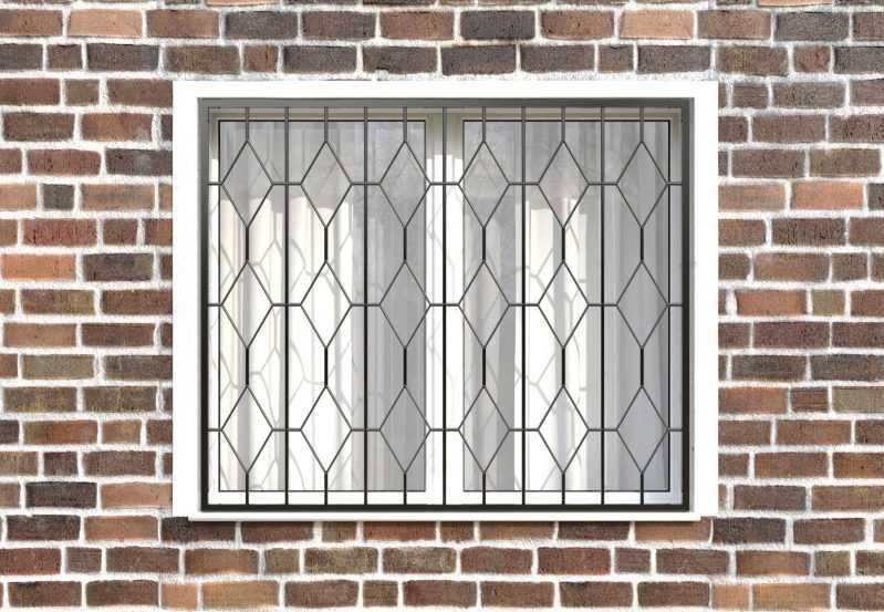 Фото 1 - Сварная решетка на окно РС0031.
