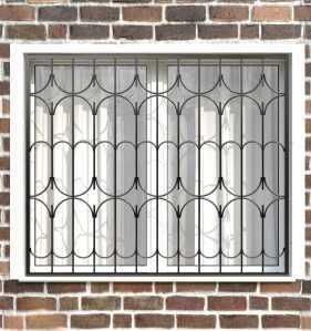 Фото 2 - Сварная решетка на окно РС0032.