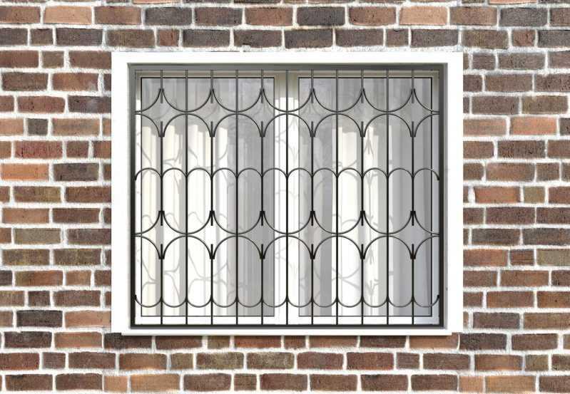Фото 1 - Сварная решетка на окно РС0032.