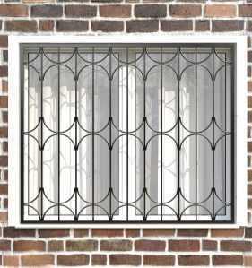 Фото 10 - Сварная решетка на окно РС0033.