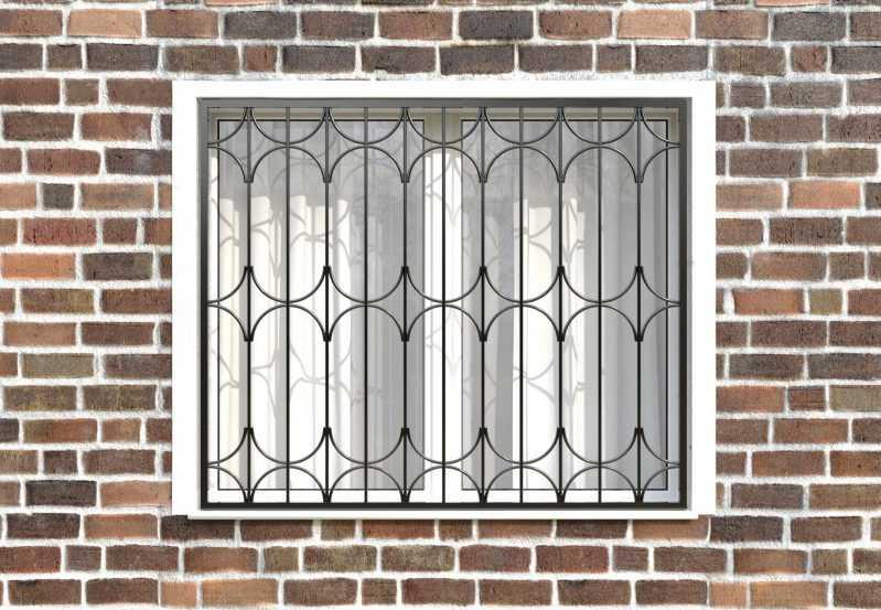 Фото 1 - Сварная решетка на окно РС0033.