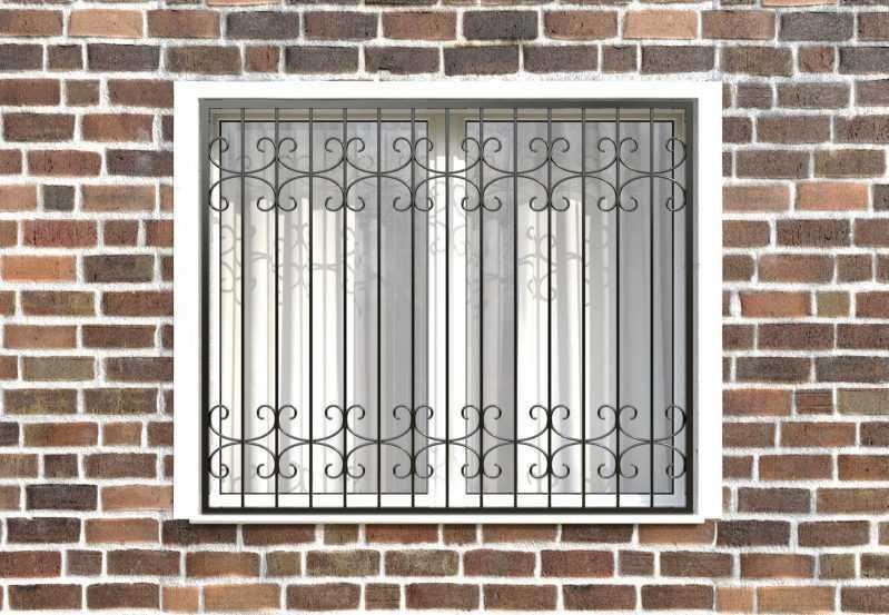 Фото 1 - Сварная решетка на окно РС0015.