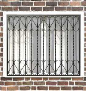 Фото 24 - Сварная решетка на окно РС0022.