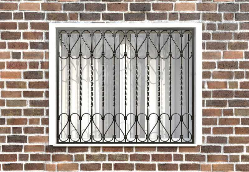 Фото 1 - Сварная решетка на окно РС0022.