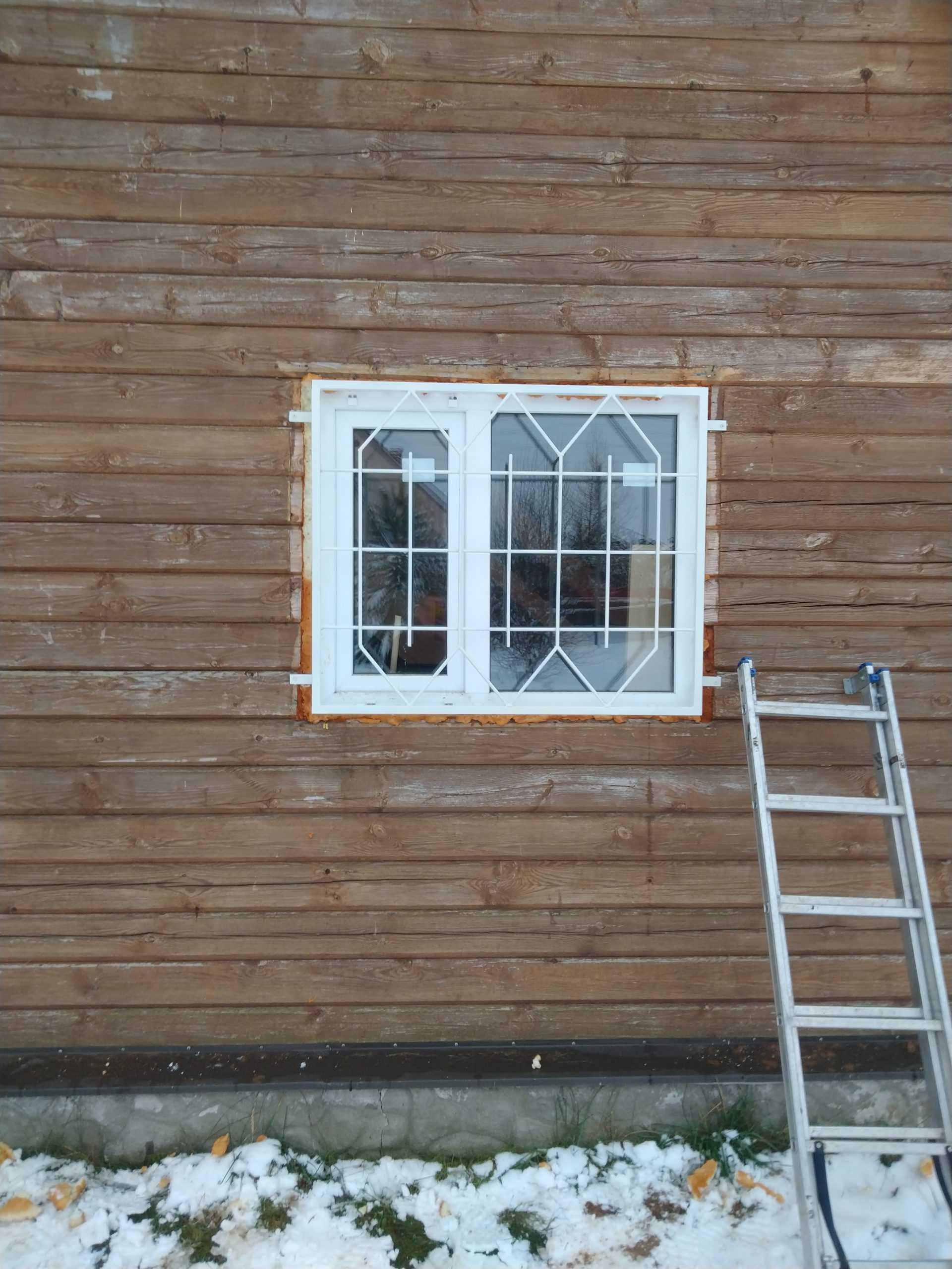 Решетки на окна в деревянном доме Фото 1