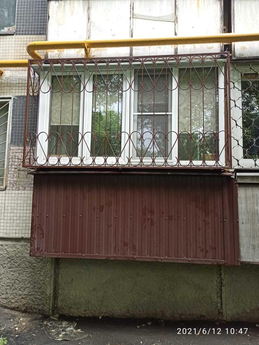 Решетки на лоджии первого этажа Фото 2