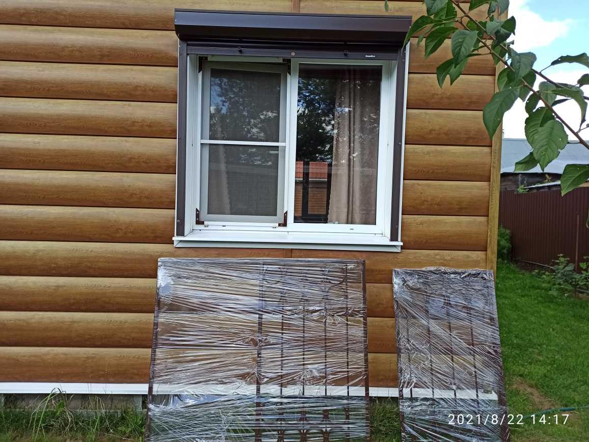 Установка решёток на окна с открываниями Фото 2