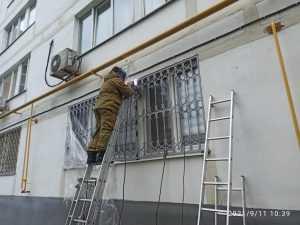 Решётка на окно из квадрата 12 мм